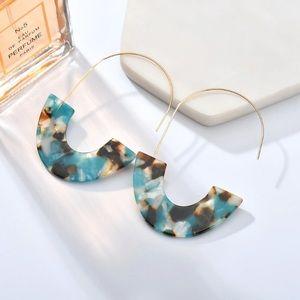 NWOT Turquoise Tortoise Earrings
